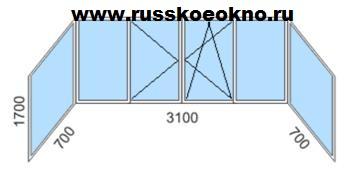 """Остекление балкона в доме серии 1-515 5 """"хрущёвка""""."""